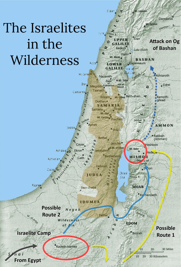 Image result for The wilderness bible map